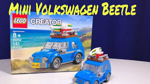 mini volkswagen beetle lego creator mini volkswagen beetle 40252 unbox speed build and