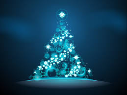 glowing christmas tree blue twinkling lights and glowing u2026 flickr