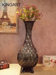 aliexpress com buy large floor vase kingart metal tabletop