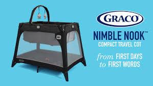 Graco Crib Mattress Size by Graco Nimble Nook Space Saving Travel Cot Keeps Baby Close Youtube