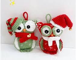 owl christmas christmas owl etsy