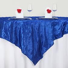 table overlays for wedding reception amazon com balsacircle 85 inch royal blue pintuck table overlays