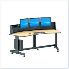 computer desk for 2 monitors computer desk for multiple monitors dual monitor computer desk multi