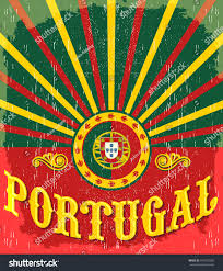 What Are The Colors Of The Portuguese Flag Portugal Vintage Old Poster Portuguese Flag Stock Vektorgrafik