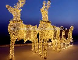 Deer Christmas Lights Large Outdoor Christmas Reindeer Light Large Outdoor Christmas