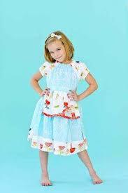 girls apron dress lemonade couture