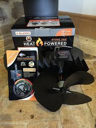 ecoflow 4 blade heat powered stove fan with free magnetic