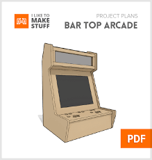 arcade cabinet plans pdf bar top arcade digital plan i like to make stuff