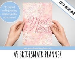 of honor organizer ultimate of honor planner a5 custom wedding organizer