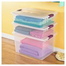 Sterilite Showoffs Storage Container - sterilite clearview latch storage bin clear with purple latch