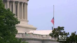 Federal Flag Half Mast Flags Lowered To Half Staff At White House Capitol Youtube