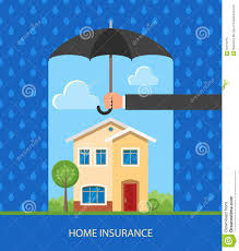 home protection plan concept vector illustration in flat design