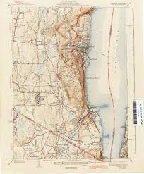 Map Of New York Harbor by