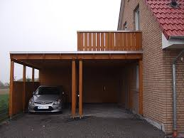 carport mit balkon flachdach carport in oelde pollmeier holzbau gmbh