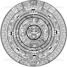 calendario azteca clipart 30