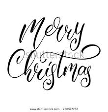 merry christmas vector calligraphic lettering design stock vector