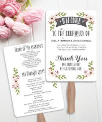 programs for wedding wedding fan programs diy program wedding program easy