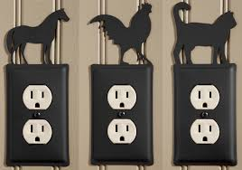 wrought iron electric outlet cover sturbridge yankee workshop