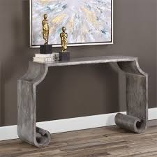 Stone Sofa Table Uttermost Agathon Console Table In Stone Gray 24672