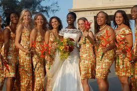 robe africaine mariage inspiration mariage demoiselles d honneur pagnifik par eki
