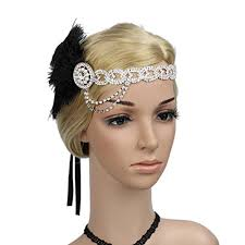 1920s headband meiliy women s roaring 1920s headband bling gatsby