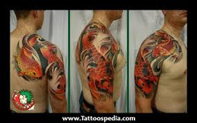 koi carp half sleeve tattoos