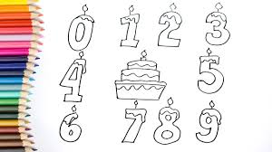 how to draw numbers coloring pages kids songs learn drawing