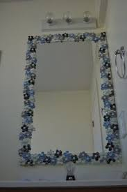 Frame Bathroom Mirror by Tile Framed Mirrors Glass Mosaic Tile Framed Mirror Brown