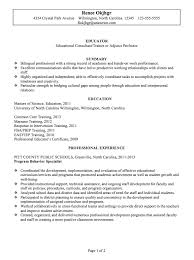 Resume Samples For Teaching Job by Resume Example For An Educator Susan Ireland Resumes