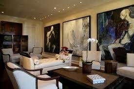 Modern Art Collectors Living Room Transitional Living Room - Modern art interior design