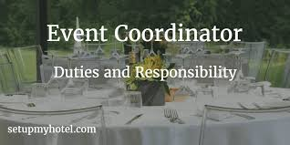 fashion marketing coordinator job description event coordinator banquet coordinator duties and responsibility