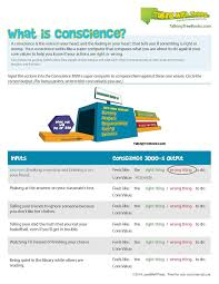 Core Values Worksheet Teaching Kids About Conscience Parenting Times