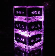 pink punk rock wedding or party table lighted centerpiece for