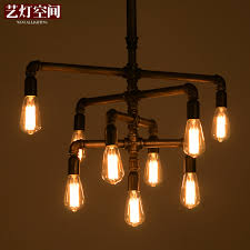 Chandelier Creative Online Shop Edison Light Bulb Vintage Silk Industry Pipe Foyer