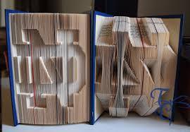 folded book art notre dame college book sculpture