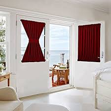 Blackout French Door Curtains Amazon Com Nicetown Glass Door Curtain For Patio Drapery