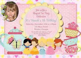 tea party invitation birthday princess tea digital file 12 00