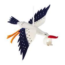 stork ornament handmade ornament uncommongoods