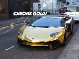 gold chrome lamborghini aventador chrome gold lamborghini aventador lp750 4 sv roadster in