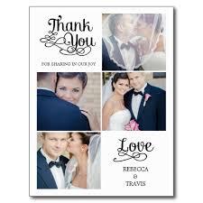 modern calligraphy photo thank you cards wedding sle