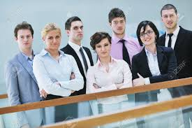 multi ethnic mixed adults corporate business team stock