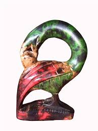home decor objects hand carved sankofa bird ghanaian traditional sculpture art