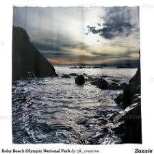 Park Shower Curtains Sunset At Ruby Beach Olympic National Park Shower Curtain Shower