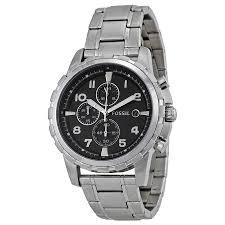 fossil man bracelet images Fossil dean stainless steel bracelet black analog dial chronograph jpg