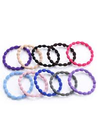 elastic hair bands multicolor elastic hair band set in sammydress