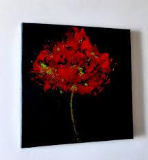 Tableau Abstrait Rouge Et Gris by Tableau Peinture Contemporain Abstrait Rouge Noir Eclosion Fleur
