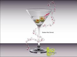 martini design advertisement vector design with cocktail glass illustration free