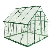 Harmony Greenhouse Palram Balance 8 Ft X 8 Ft Green Polycarbonate Greenhouse 701924