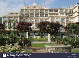 italy lago maggiore stresa grand hotel bristol park lombardy stock