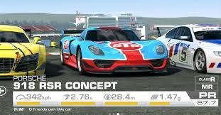 porsche 918 racing real racing 3 tuning porsche 918 rsr concept stp livery custom